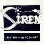 SIREN - »Metro-Mercenary«-Cover